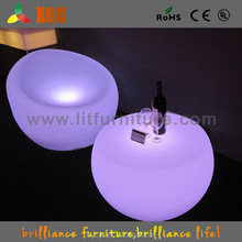 LI-Battery Remote WIFI Control Colorful LED Concave Bar LED Table Furniture