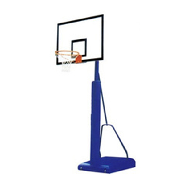 Steel blue Basketball backstop kids basketball hoop set
