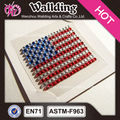 confederate country flag design self adhesive rhinestones sticker wholesale