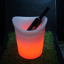 flashing red wine led ice bucket,beer& champagne plastic ice bucket,led colorful ice cooler