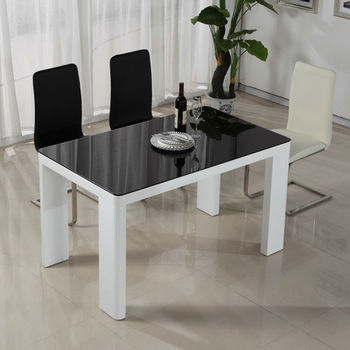 2013 popular tempered glass dining table