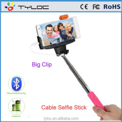 New Arrival cable take pole selfie stick , Aluminum wired monopod cable take pole selfie stick mini Tripod Monopod
