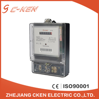 Cken Newest 220V 50Hz Register Single Phase Two Wire Energy Meter Electronic Digital Counter Type Kwh Meter , Watt-hour Meter