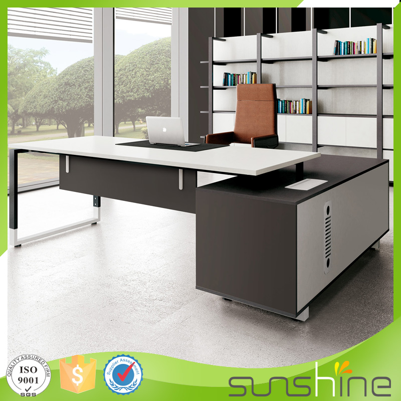 2016 Sunshine Newest Design High End Modern Style Office Furniture Boss Use Manager Executive Desk XFS-2018
