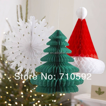 Christmas products wholesale snowflake fan,Santa honeycomb,Honeycomb tree