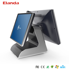 Hot selling 15.6 inch capacitive touch screen water proof screen pos system dual screen for retail store