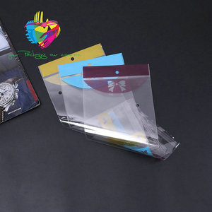 Plastic header bags china made self seal high quality bopp printing package