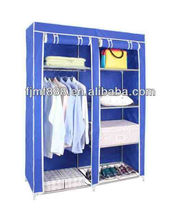 Home Furniture Cheap Double Non-Woven Clothes Cabinet Small