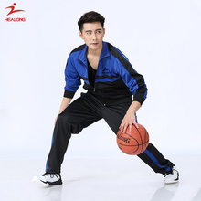 Healong Top Design Basketball Tracksuit Sportswear Wholesale Mens Polyester Tracksuit