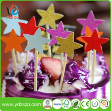 Colorful Stars Cake Cupcake Topper Picks For birthday, wedding party china suppliers