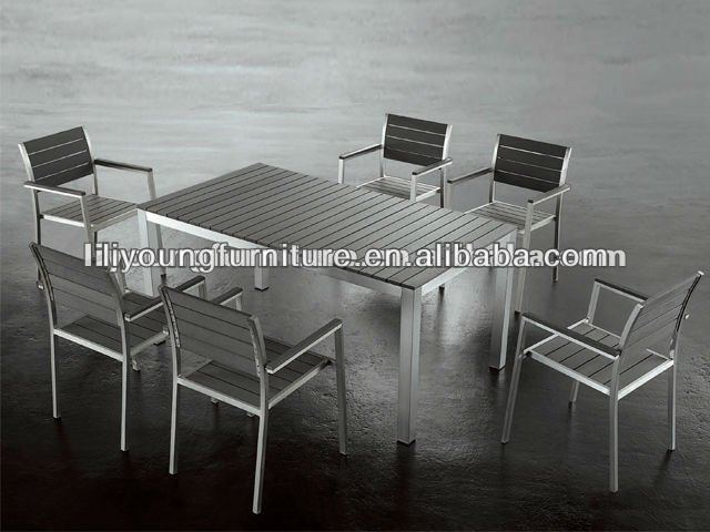 Alu Frame Plastic Wood Big Lots Outdoor Furniture From China-LG808410