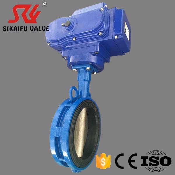 8 inch Ductile Iron Electric Butterfly Valve for Sewage Treatment