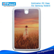 2D pc blank sublimation phone case for samsung n5110 galaxy note 8.0
