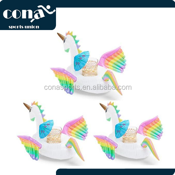 New Design Mini Inflatable Unicorn Cup Holder 2017 Hot Sale Unicorn Drink Holder With Amazing Wings