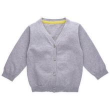 Grey Baby Boys Sweater Design Fashion Cardigan Manufacturer Wholesale Children Clothes in China