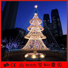 3D high quatity gaint luxury led tower christmas tree decoration