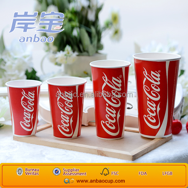 China manufacturer large cold paper cups