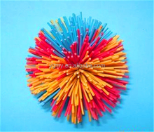 bushy hair ball rubber hair ball,toy,fluffy rubber toy ball