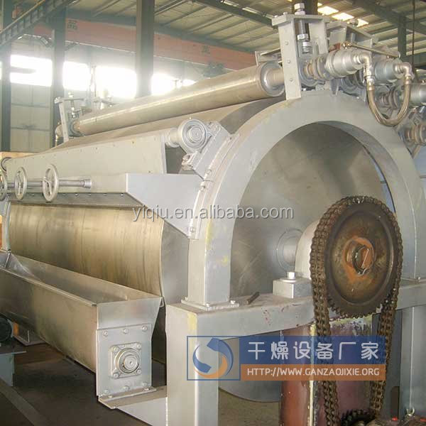 Drum dryer for fruit powder