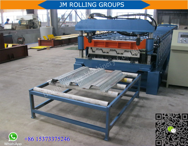 CE Standard color steel floor deck panel forming making equipment with stacker crane