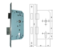 Security mortise sash locks for residential and commercial doors with cylinders