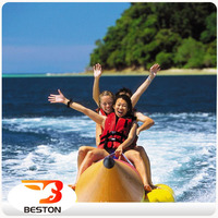 Funny family water equipment inflatable banana boat/flying fish boat