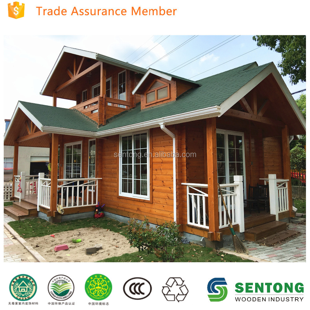 2016 Low Cost Prefabricated Wooden House STK156