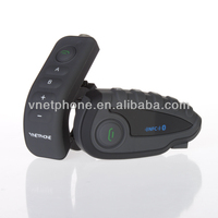 Wireless full duplex V8-1200 motorcycle helmet bluetooth headset/intercom