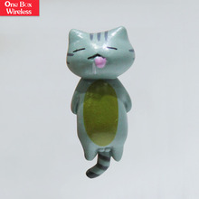 2018 New Promotional Gifts Cartoon Lovely Cat Design PVC Mobile Phone Dust Plug