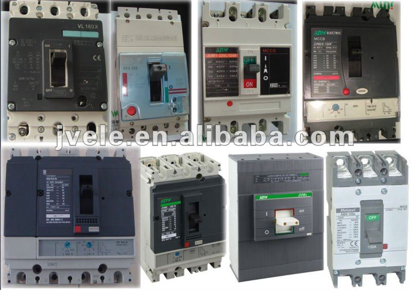China factory to supply over-voltage protection 3 phase 3 pole and 4 pole thermal magnetic molded case circuit breaker