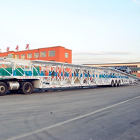 Double Floor Auto Hauler Semi Truck Trailer/Car Carrier For 6-20 Cars / Suvs Transportation