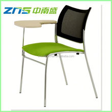 891BY plastic seat mesh back stackable tablet chair