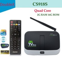 1 Chip 4k satellite receiver CS918S Android 4.4 sexy video player download tv box