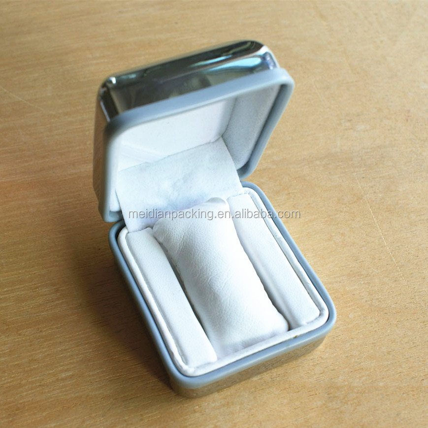 Elegant silver electroplate engraved jewelry boxes for rings only