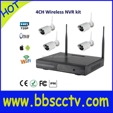 HOT sale Economic Wifi 1.3MP IP Camera 4CH NVR Outdoor CCTV Wireless Kit