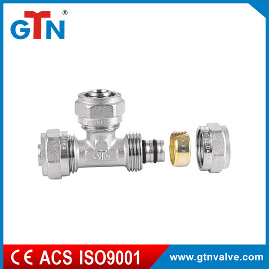 Factory hot sales copper fittings forged npt thread ART008N tee elbow fitting