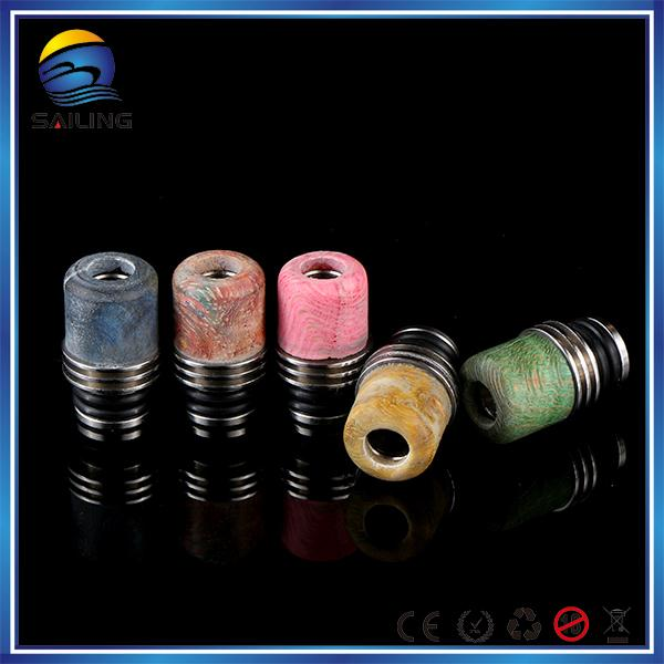 Sailing Drip Tip Hybrid wood 510 drip tip Real Stabilized wood Wide bore drip Import electronic cigarette
