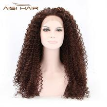 brown kinky curl wig lace front yak hair wigs made in america wigs