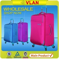 2015 fashion leisure lightweight Pure color folding trolley luggage