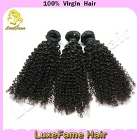 Luxefame Hair different types of curly weave hair ,afro kinky curly clip in hair extensions