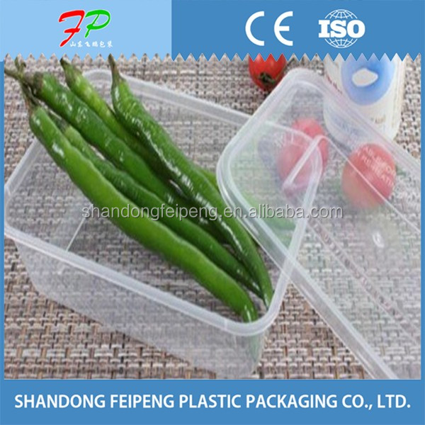 Food Grade Plastic Food Box, Grease Proof Plastic Packaging Box