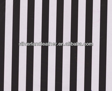 SL1723//1.5 CM black and white strip 1.0 MM AZO free print Polyurethanes imitation leather