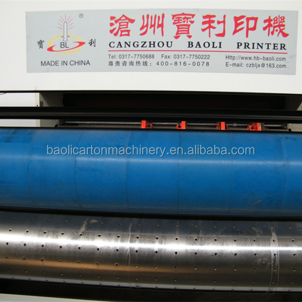 chain feeder corrugated paperboard water ink flexo printer slotter and die cutter machine