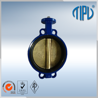 motorized hand brake butterfly valve for industrial use