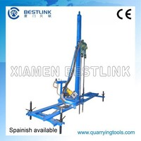 bore hole rock driller rack,bore hole line drilling machine,mobile line driller rack for bore hole