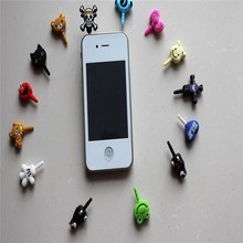 New Arrival Cute Animal Shape Earphone Jack Dust Proof Plug