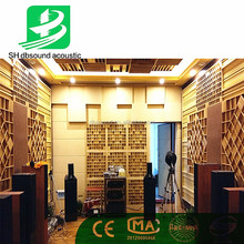 solid QRD wooden diffuser acoustic treatment for HIFI room