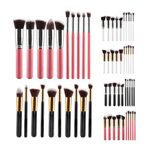 10pcs Private Label Professional Synthetic Kabuki Makeup Brush