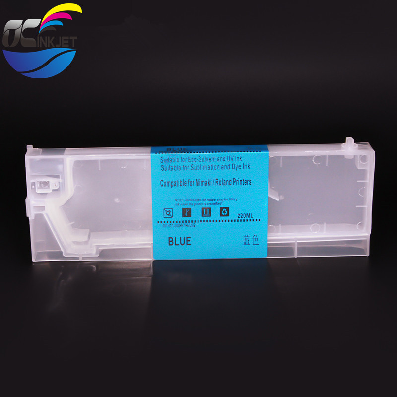 Ocinkjet <strong>10</strong> Colors 440ML Reactive Acid refillable ink cartridge With Permanent Chip For Mimaki JV5 TS5 printer