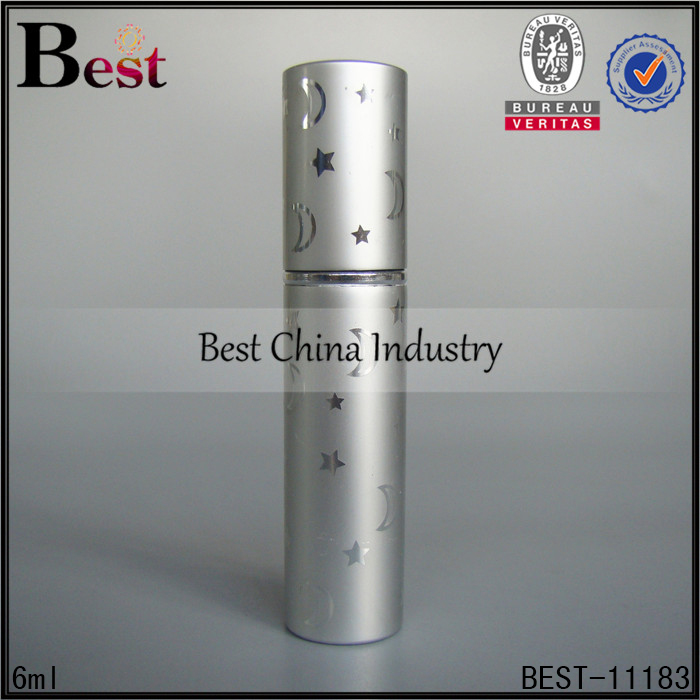 6ml diamond decorative art glass best selling products atomizer perfume bottle